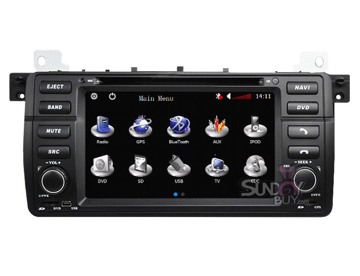 car dvd player gps navigation stereo for bmw 3 series e46. Black Bedroom Furniture Sets. Home Design Ideas
