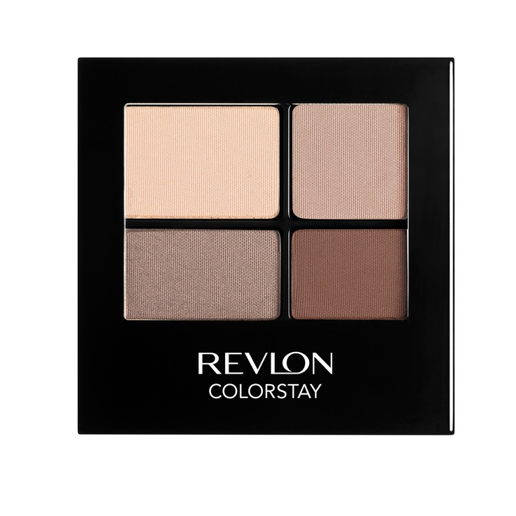 Revlon Colorstay 16 Hour Eyeshadow Quads in Addictive - amaaaazing matte nude palette. I use it for shadow and brow powder!
