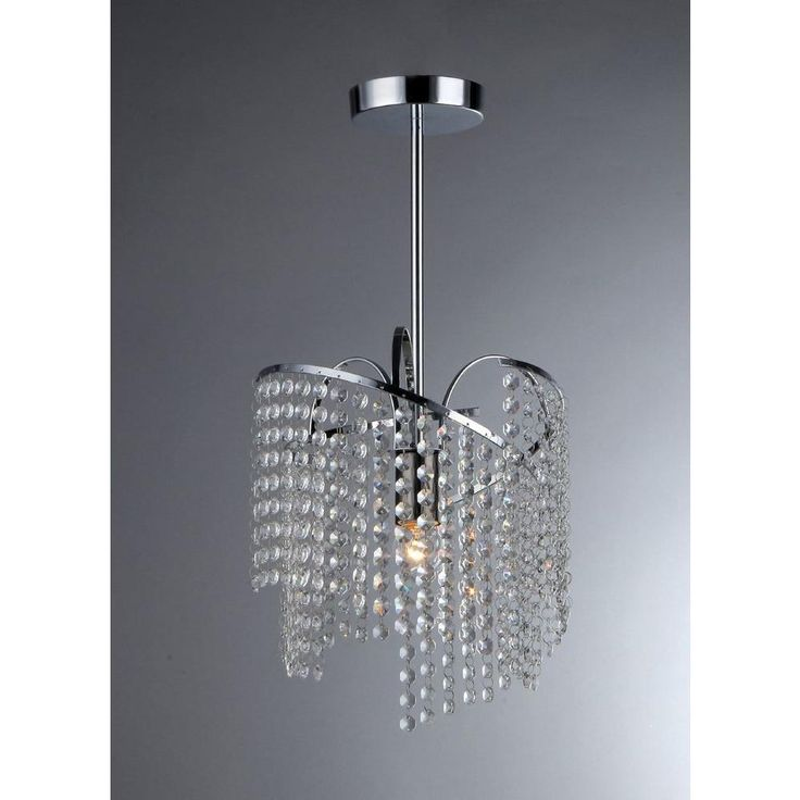 Warehouse of Tiffany Ann 1-Light Crystal Chrome Chandelier-RL0669 at The Home Depot