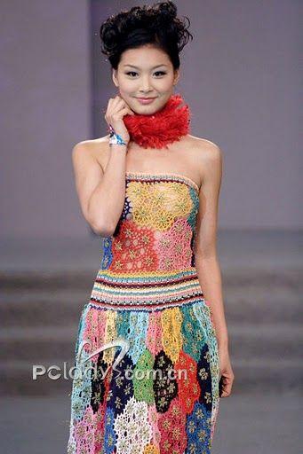 crochet motif dress-wow!!