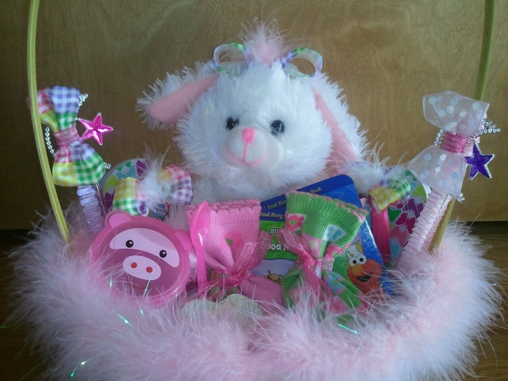185 best baby easter baskets images on pinterest easter baskets baby girls easter basket babyrificgifts negle Image collections