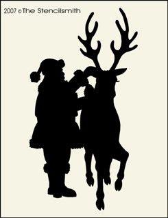 Santa and Reindeer - pic-Santa and Reindeer - pic christmas claus rudolph stencil