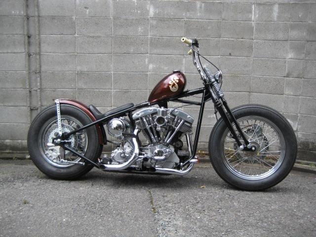 作品 75 Shovel Custom Of Luck Motorcycles Harley Bobber Harley Davidson Motorcycles Harley Softail