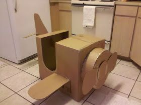 nasagreen: First Birthday Party - 7 - Cardboard Box Airplane