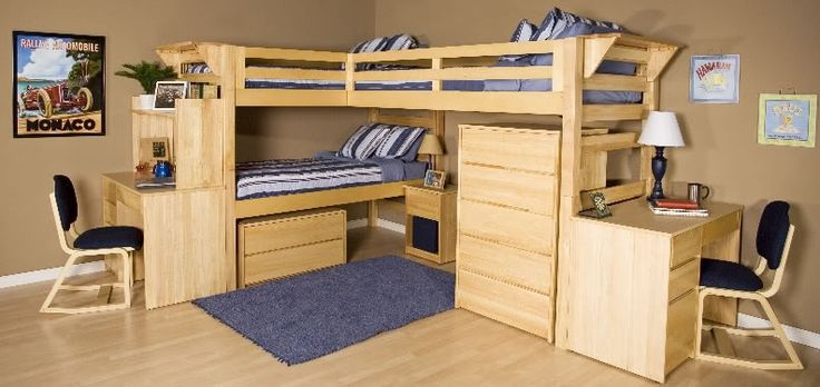 Triple bunk bed plans pdf woodworking projects plans for Bunk bed woodworking plans