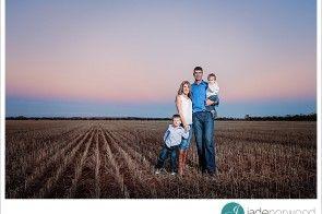 Family photo on the farm