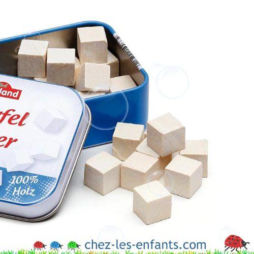 Sucre de dinette en bois et marchande  - 1217-1 | Boutique Chez Les Enfants