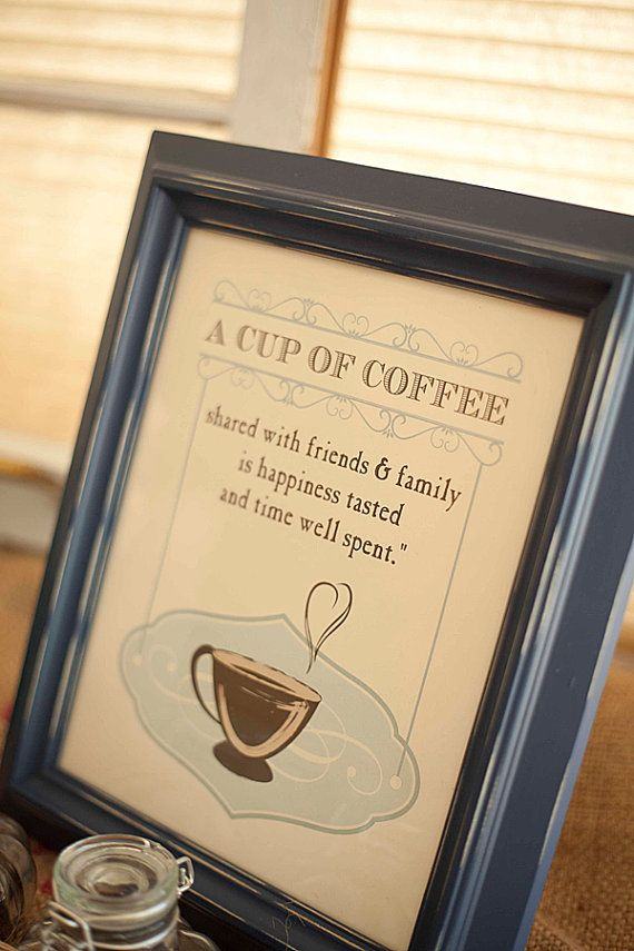 A Cup of Coffee Art Print coffee quote  8x10 by papermintsshop, $16.00