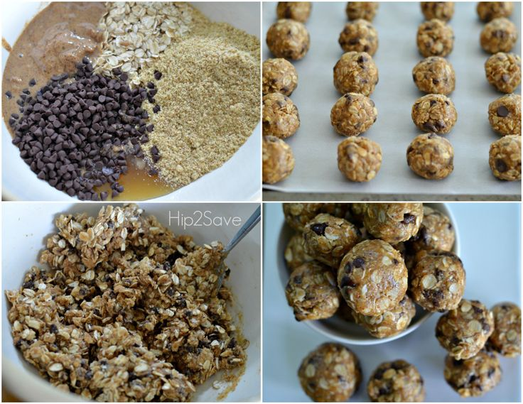 Easy & Healthy Oatmeal Energy Bites No Bake Recipe from Hip2Save.com