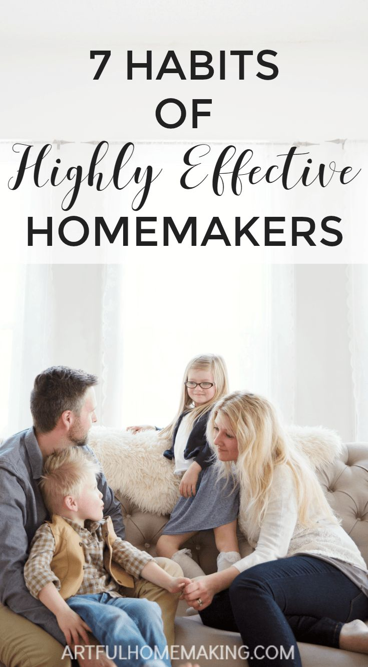 essential homemaking habits
