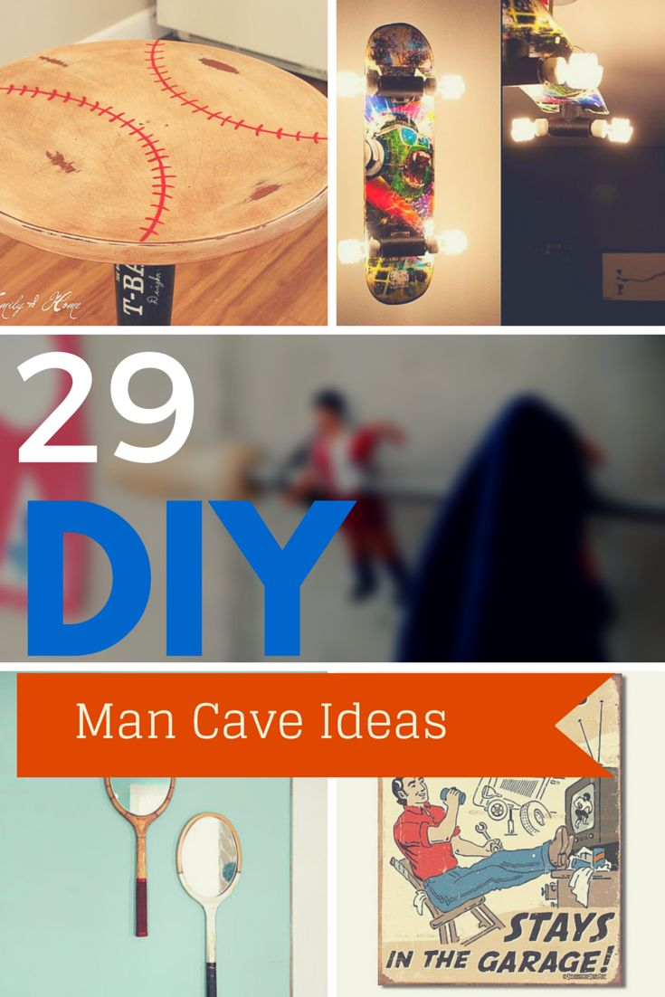 29 Budget Man Cave Ideas - Proof That You Don't Have To Spend Big Money To Get A Pretty Sweet Man Cave at Your House. Via http://www.thesawguy.com/man-cave-ideas-on-a-budget/