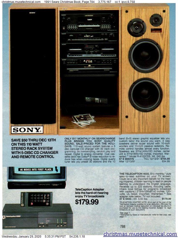 1991 Sears Christmas Book, Page 784 - Christmas Catalogs ...