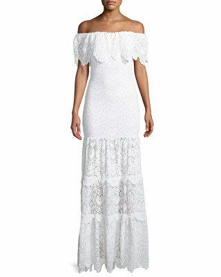71729a11a0ba2e Nightcap Clothing Designer Spanish Lace Positano Off-the-Shoulder Maxi Dress