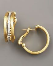 Marco Bicego Jaipur Gold and Diamond Hoop Earrings