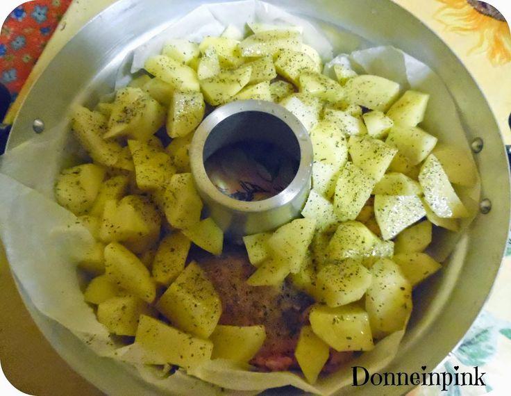 donneinpink - risparmio e fai da te: Pollo arrosto con patate senza forno - La pentola ...