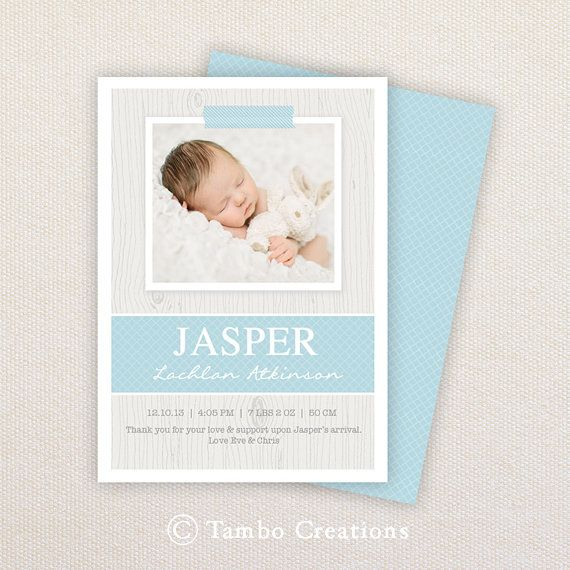 52 best Newborn Birth Announcements images on Pinterest Baby - announcement template