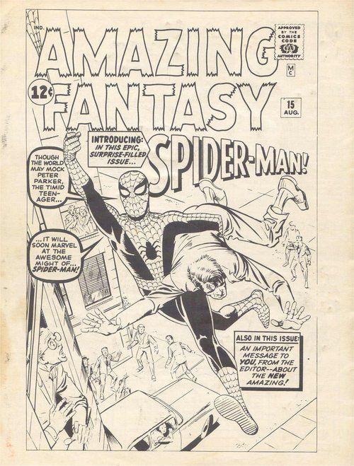 seanhowe:  Steve Ditko's original cover for Amazing Fantasy #15,...
