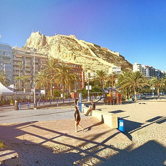 Beautiful november day Alicante santa barbara castle from postiguet beach https://www.airbnb.es/rooms/14738778 https://www.airbnb.es/rooms/14371066 https://www.airbnb.es/rooms/15697340 http://www.bestairbnbalicante.com