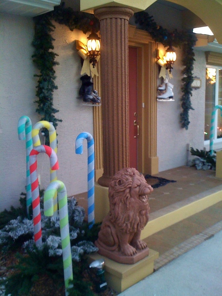 Swimming Pool Noodle Candy Canes Diy Christmas Gift