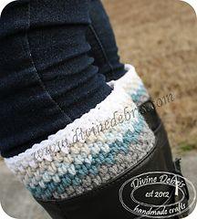 Willow Boot Cuffs ~ Free crochet pattern by Divine Debris