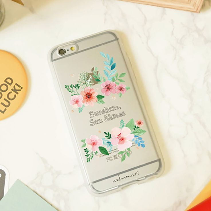 Soft Jelly Clear Design Phone Case - Amazing Pink Flowers