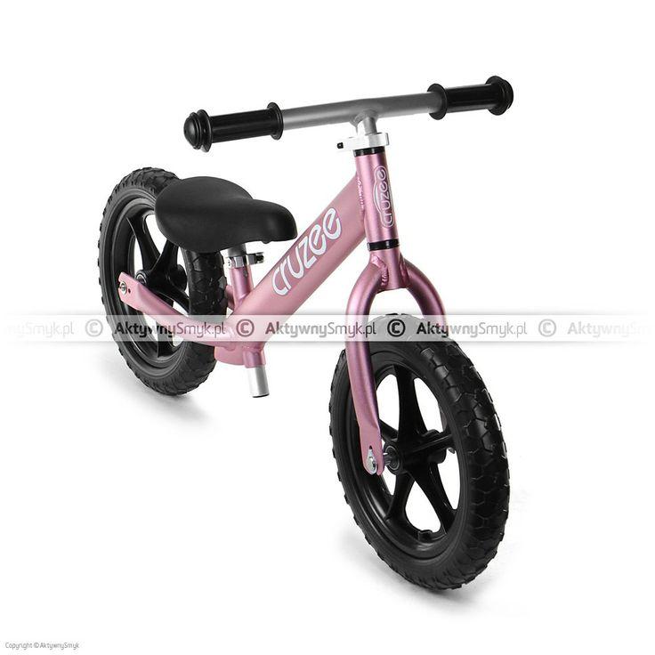 Lekki rowerek biegowy Cruzee 12 różowy