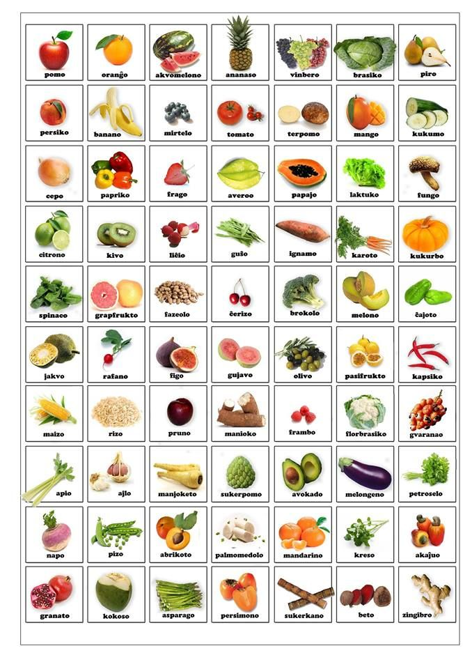 Fruktoj kaj legomoj                                                       …