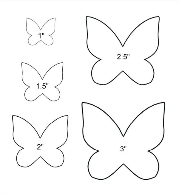 Butterfly Stencils Printable Butterfly Template Printable For