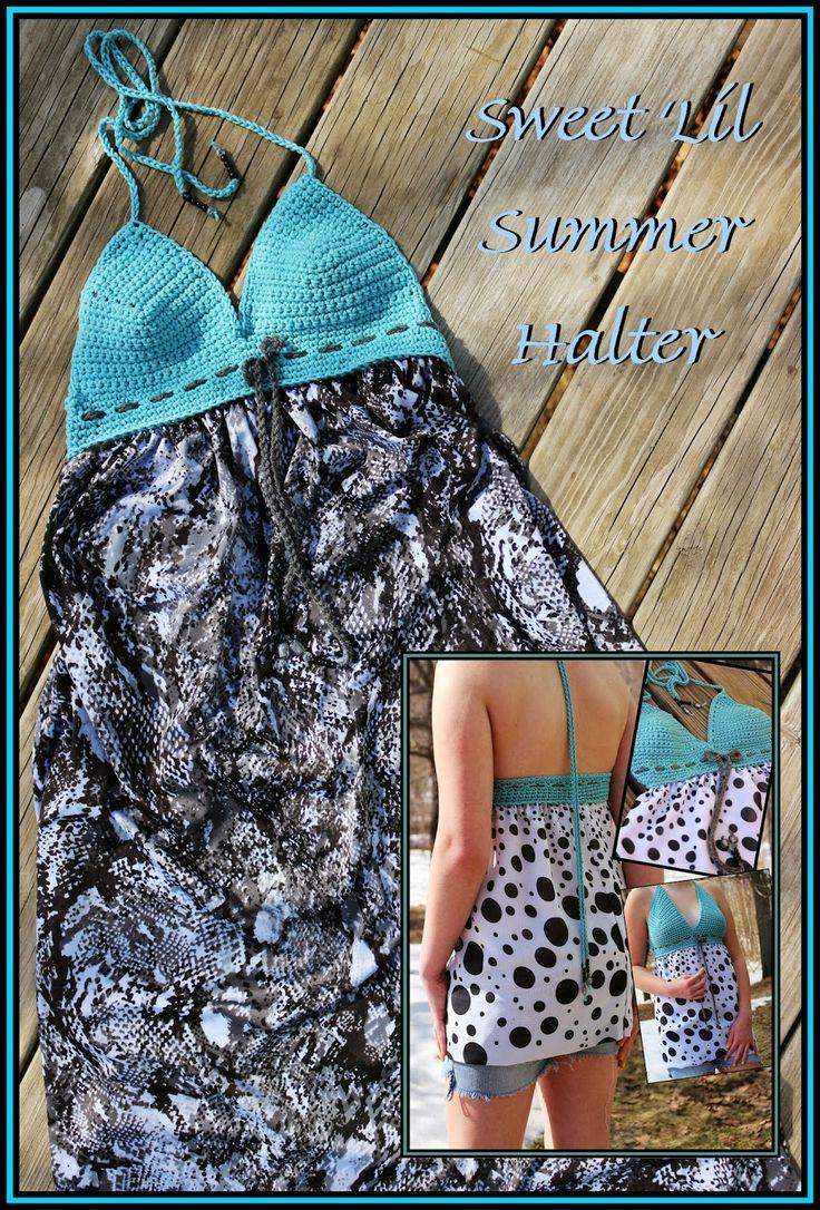 45 best crochet bikinis images on pinterest hand crafts crochet crochet supernova sweet lil summer halter free pattern bankloansurffo Images
