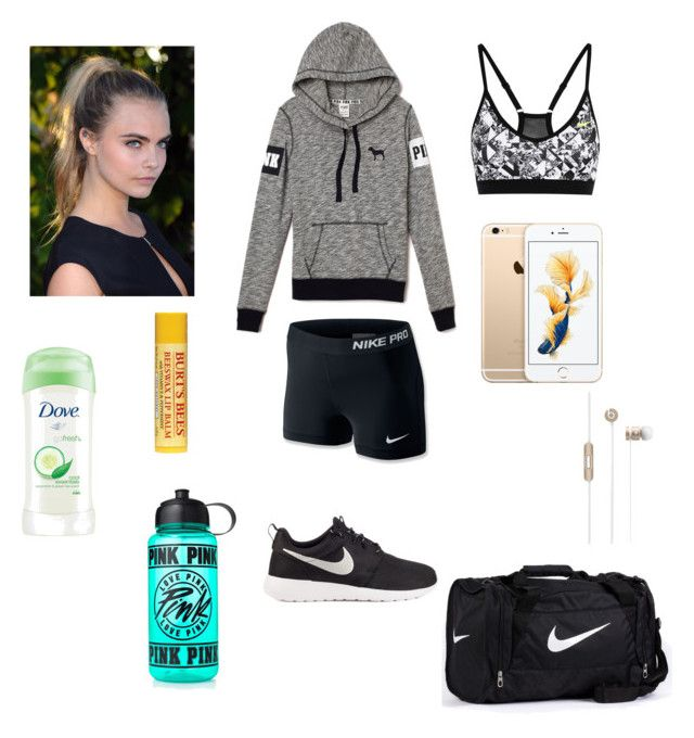 """""""Morning workout outfit"""" by ashleycagauan on Polyvore featuring NIKE and Victoria's Secret PINK"""