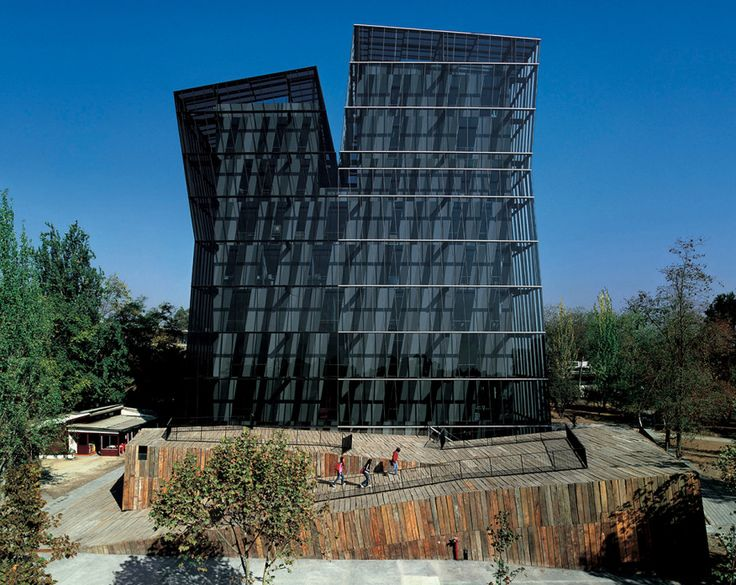 Siamese Towers at the Universidad Catolica, Santiago, Chile-Alejandro Aravena
