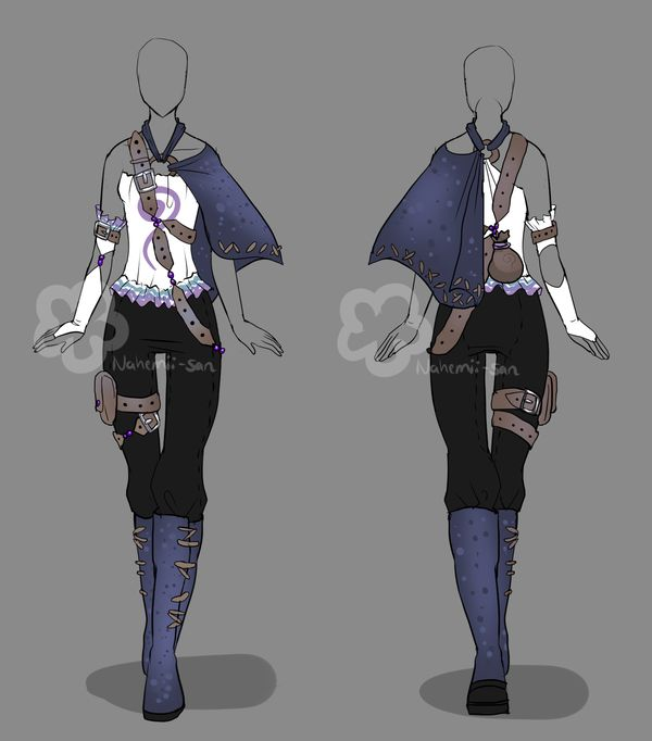 Fantasy Outfit #2 - closed by Nahemii-san.deviantart.com on @deviantART | Art | Pinterest ...