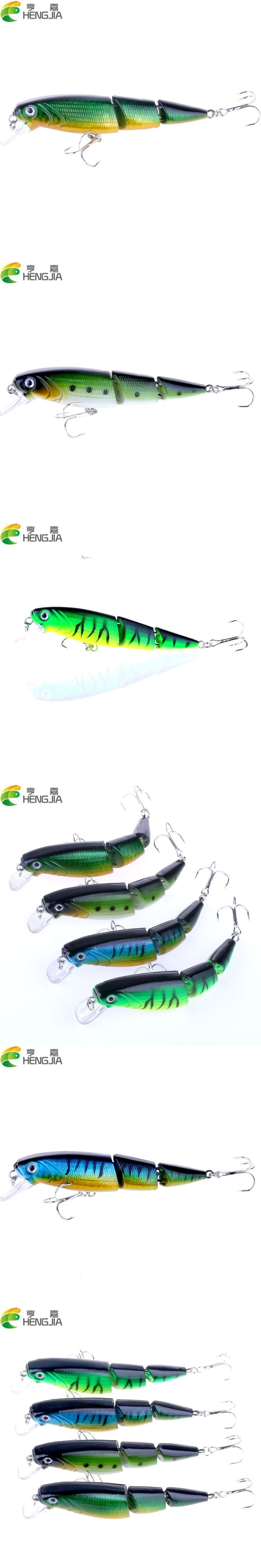 4pcs 10.5cm 14g 6#hooks  jointed minnow fishing lures bass wobbler pike carp trout catfish fishing baits pesca fishing tackle