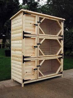 rabbit hutch ideas , I like this and think it would be a good addition to a barn wall with runs going outside into a sheltered grassy area.