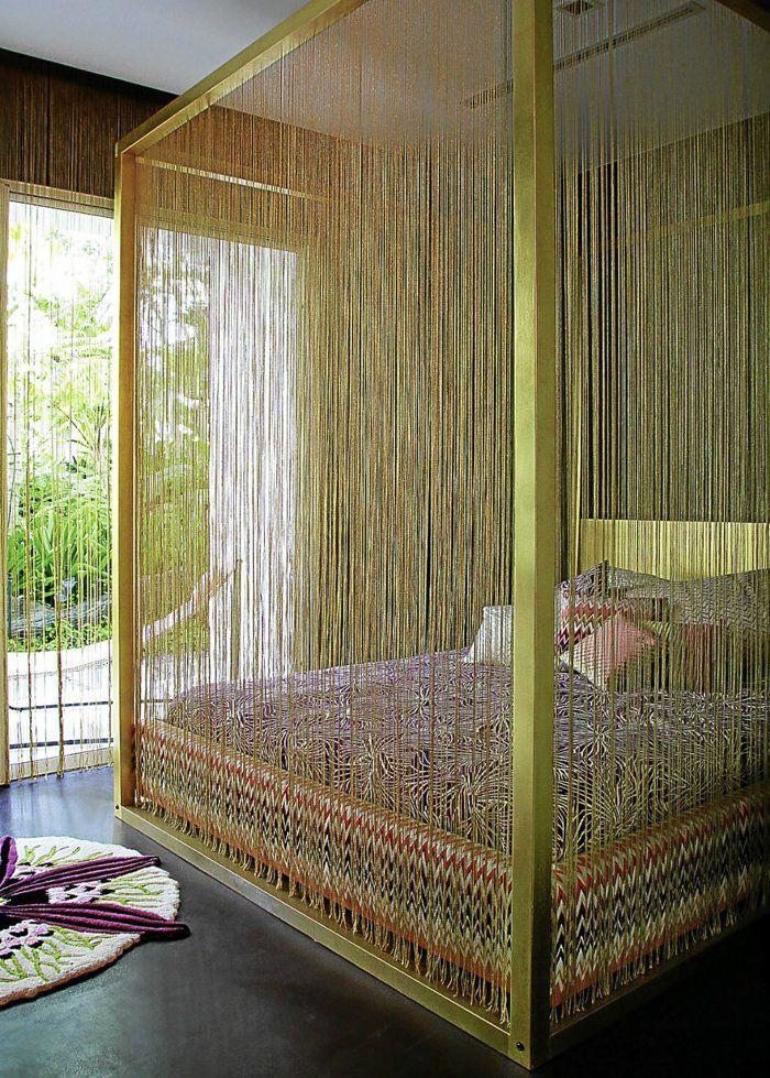 die besten 25 himmelbett vorhang ideen auf pinterest vorhang ber dem bett vorh nge ber dem. Black Bedroom Furniture Sets. Home Design Ideas