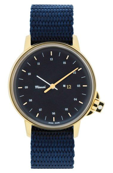 Miansai 'M12' Nylon Strap Watch, 39mm available at #Nordstrom