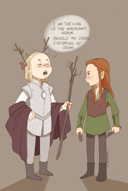 theartoflottie:   The Battle of the five Armies countdown - day 8 of 30  Their argument is p serious.