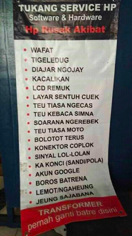 Kata Bijak Bahasa Sunda Lucu Di 2020 Lucu Bijak Spanduk