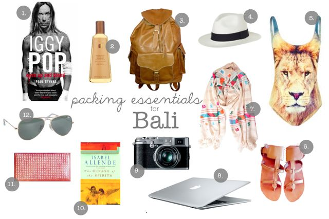Packing essentials for Bali, what to pack, packing for Bali