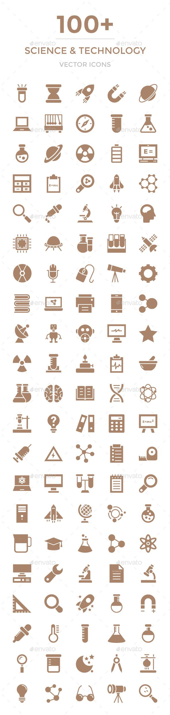 100+ Science and Technology Icons. Download here: graphicriver.net/…