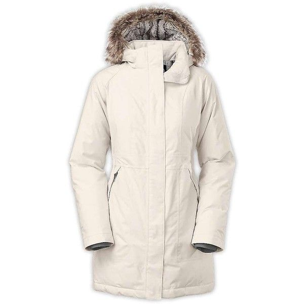 The North Face Women's Arctic Down Parka ($179) ❤ liked on Polyvore featuring outerwear, coats, vaporous grey, the north face, grey coat, grey parka coat, gray trench coat and gray coat
