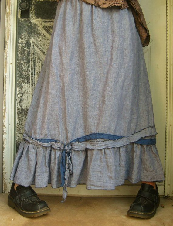 Long Ties And Knots Skirt by sarahclemensclothing on Etsy, $110.00