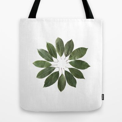 leaves circle Tote Bag by Miles of Light - $22.00