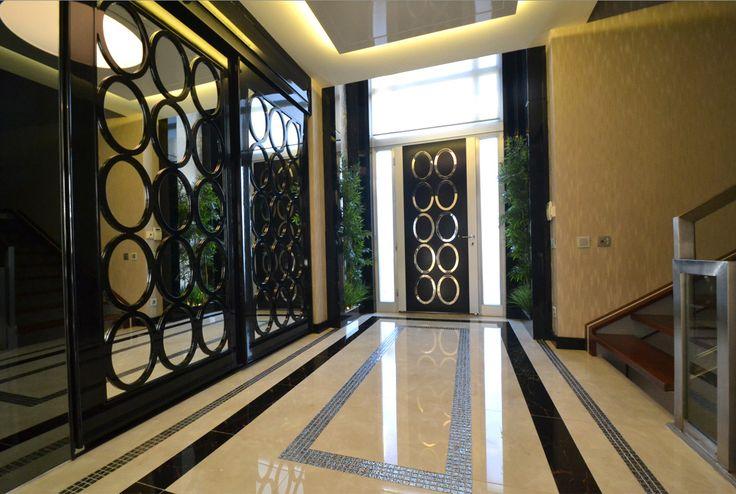 #giris #villa #black&white #interior design