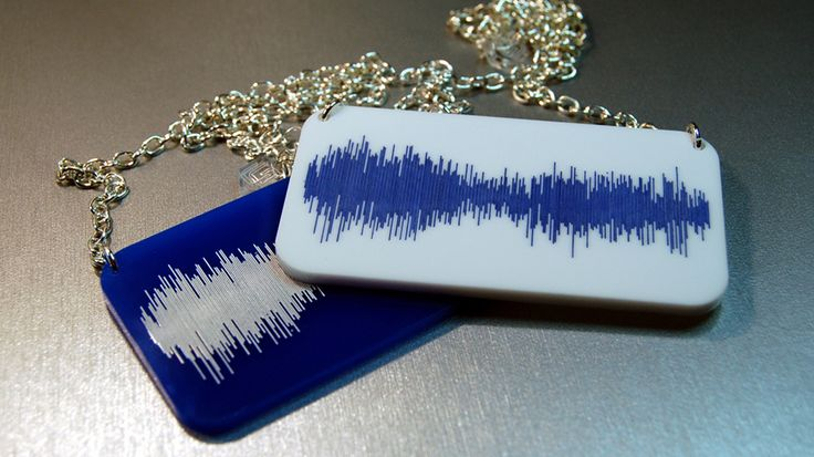 The TARDIS Sound Wave as a Necklace « Nerdist