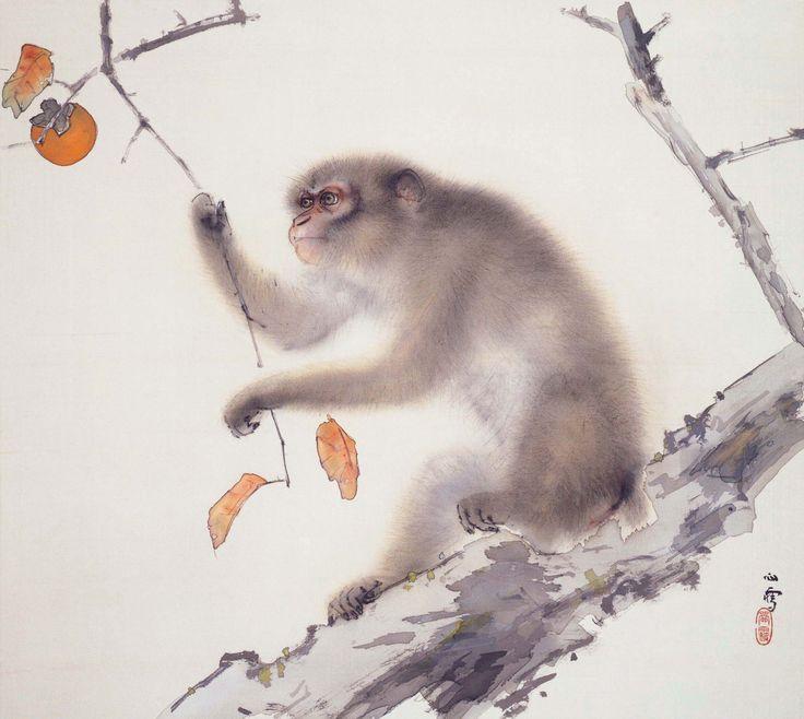 Kansetsu Hashimoto / 橋本関雪 「猿」