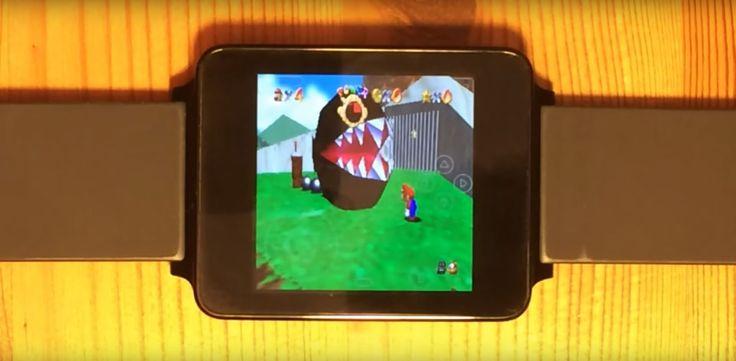 Android Wear : un fan parvient à lancer un émulateur Nintendo 64 sur sa LG G Watch - http://www.frandroid.com/android/applications/jeux-android-applications/320607_android-wear-fan-arrive-a-lancer-emulateur-nintendo-64-lg-g-watch  #AndroidWear, #Jeux