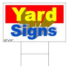 Yard signs are one of the most popular ways of advertising for individuals and small groups because it is much cheaper and easier to execute than any other form of marketing and advertising.