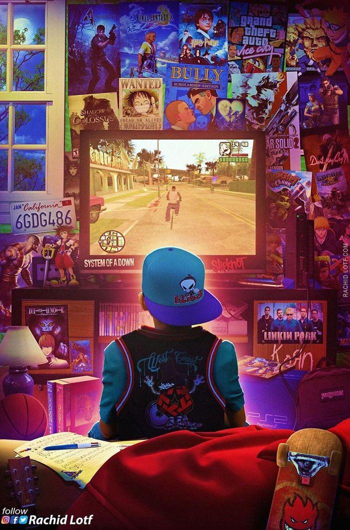NostalgicPicturesRachidLotf in 2020 Retro gaming art