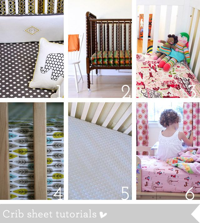 Crib bedding and nursery sewing tutorials roundup | How Joyful. This looks great! All the tutorials for all the crib pieces you might need!